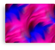Hot Pink And Blue Abstract Strokes Canvas Print