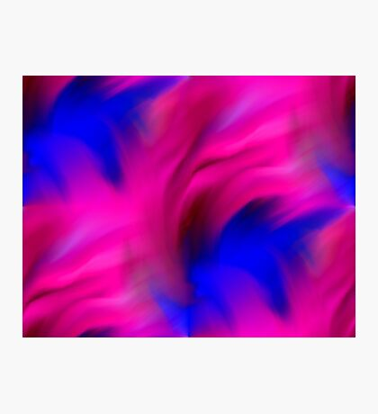 Hot Pink And Blue Abstract Strokes Photographic Print