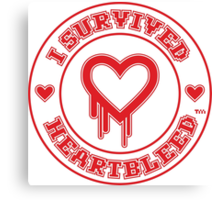 I Survived Heartbleed Canvas Print