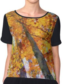 Autumn Trees In The Sky Chiffon Top