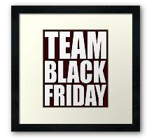 Team Black Friday Cute Framed Print