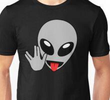 Alien Head with Vulcan Hand Sign Unisex T-Shirt