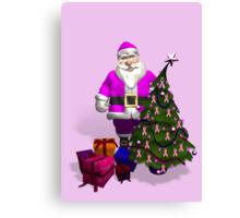 Santa Claus Dressed In Pink Canvas Print