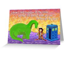 4th Doctor and unexpected friend Greeting Card