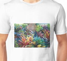 Bromeliad Oasis Diptych Unisex T-Shirt