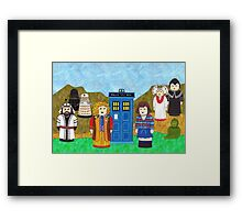 6th Doctor and his companion Peri Framed Print