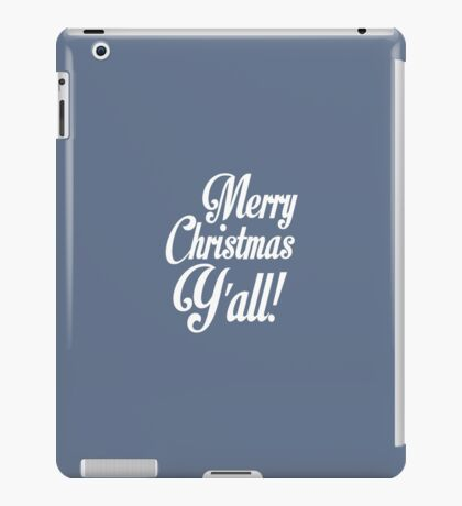 Merry Christmas Y'all Cute Southern Girl iPad Case/Skin