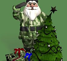 Santa Claus In Camouflage Dress by Mythos57