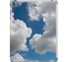 raised clouds on a blue sky iPad Case/Skin