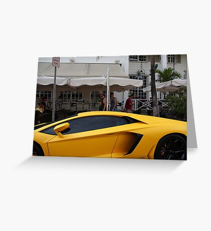 Fast luxury sports car. Florida, USA Art gallery of Valentina Averina Greeting Card