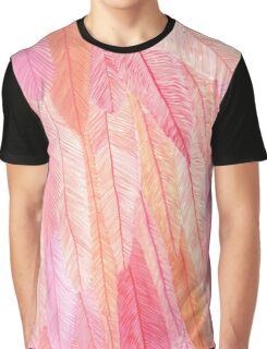 Pink Feathers Graphic T-Shirt