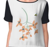 Flower and Bee Chiffon Top
