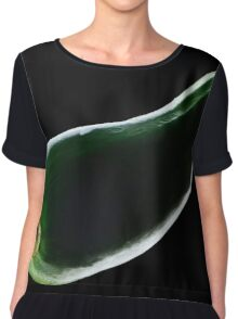 vegetables on a black background Chiffon Top