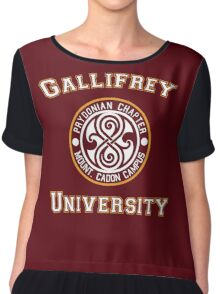 Gallifrey University Chiffon Top
