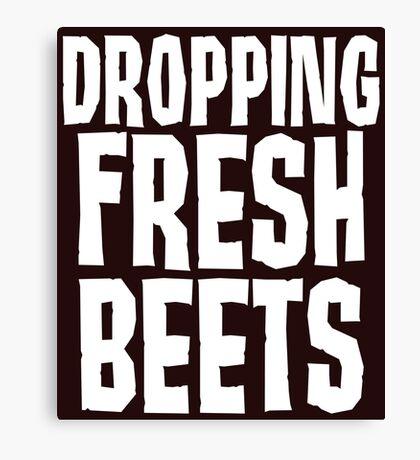 Dropping Fresh Beets Cute Canvas Print
