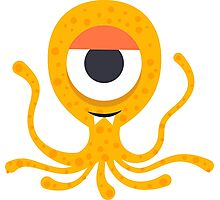 Cute Octopus geek art Photographic Print