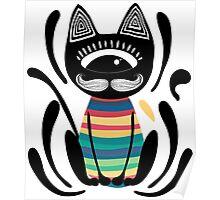 Tribal cat Poster