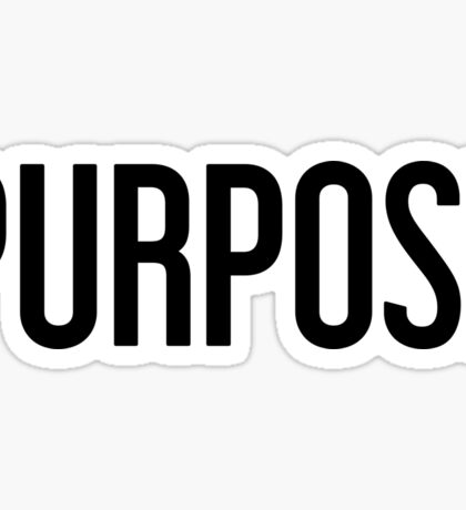 Purpose  Sticker
