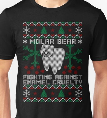 Molar bear ugly christmas sweater Unisex T-Shirt