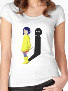 Coraline and the evil shadow Women's Fitted Scoop T-Shirt