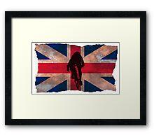 Cycling Sprinter on UK Flag Framed Print