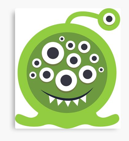 Green Monster Geek art Canvas Print