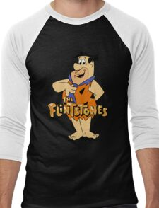 The Flintstones Funny Cartoon Men's Baseball ¾ T-Shirt