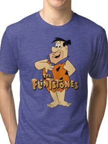 The Flintstones Funny Cartoon Tri-blend T-Shirt