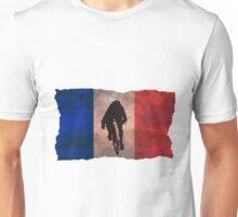 Cycling Sprinter on French Flag Unisex T-Shirt
