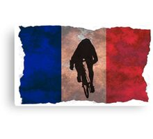 Cycling Sprinter on French Flag Canvas Print