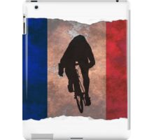 Cycling Sprinter on French Flag iPad Case/Skin