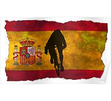 Cycling Sprinter on Spanish Flag Poster