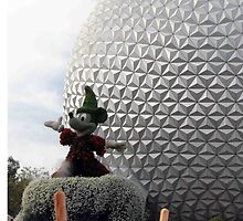 Sorcerer Mickey at Spaceship Earth by zmayer