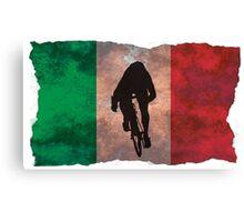 Cycling Sprinter on Italian Flag Canvas Print