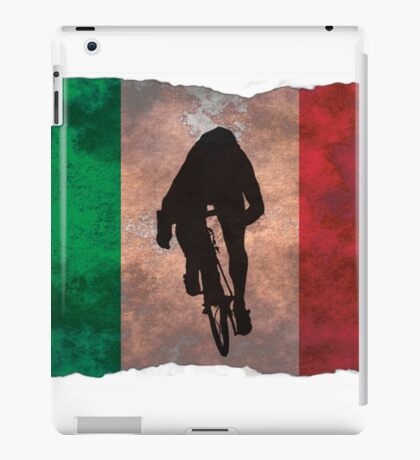 Cycling Sprinter on Italian Flag iPad Case/Skin