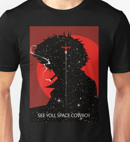 "Cowboy Bebop ""See you Space Cowboy"" (Spike Spiegel) Unisex T-Shirt"