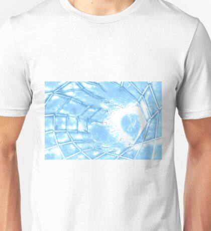 futuristic design in the form of a web with a bright light Unisex T-Shirt