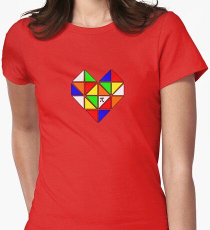 Geometric Heart Rubix Womens Fitted T-Shirt