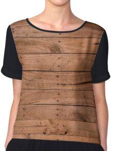 Wooden Plank Chiffon Top