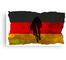 Cycling Sprinter on German Flag Canvas Print