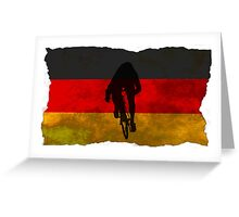 Cycling Sprinter on German Flag Greeting Card