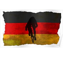 Cycling Sprinter on German Flag Poster