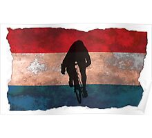 Cycling Sprinter on Dutch Flag Poster