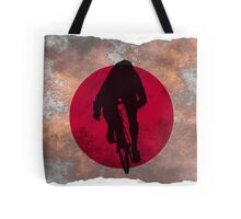 Cycling Sprinter on Japanese Flag Tote Bag