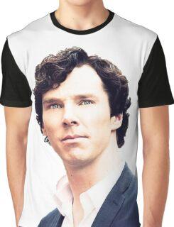 Sherlock print Graphic T-Shirt