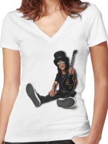 Slash Women's Fitted V-Neck T-Shirt