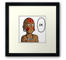 One Punch Dhalsim Framed Print
