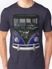 Navy Blue Camper Van With Devil Emblem T-Shirt