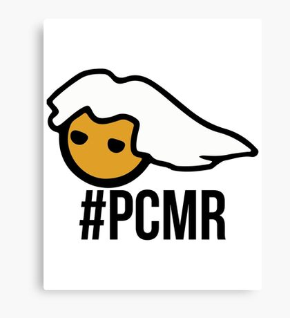PC Masterrace head - with text - PCMR Canvas Print