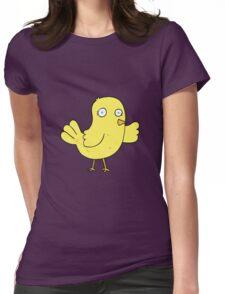 cartoon bird Womens Fitted T-Shirt